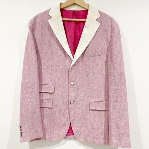 Hugo Boss striped linen blazer sports coat Sz 40R